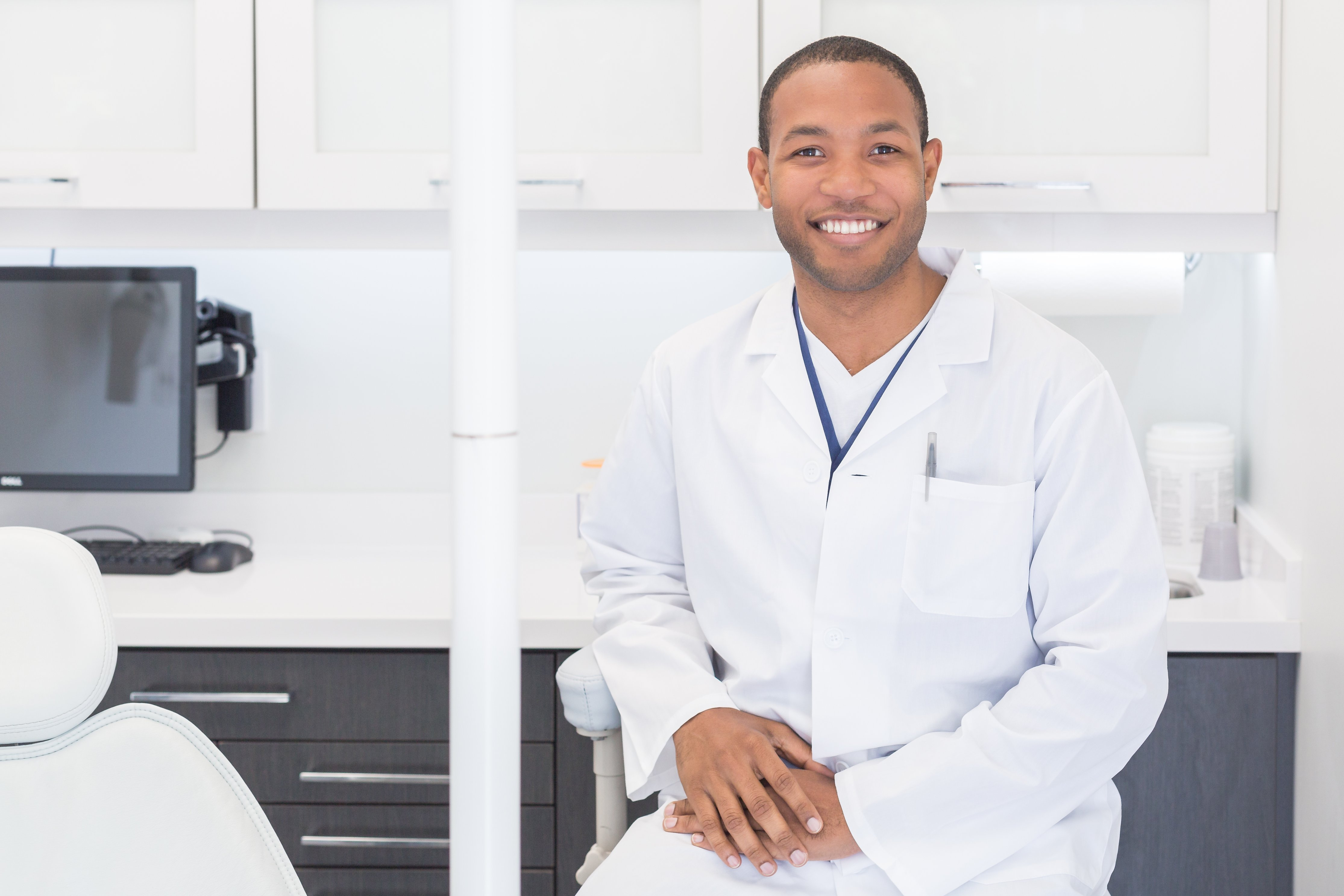 health care professional smiling